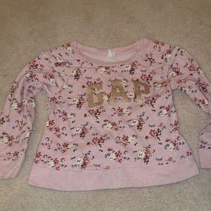 Gap floral sweatshirt size 5 new